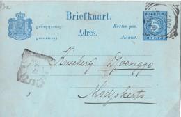 NIEDERLANDE → Briefkaart GS 5Cent Blau Anno 1902 - Niederländisch-Indien