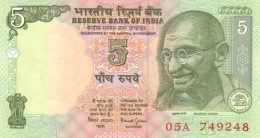 INDIA 5 RUPEES ND (2002) P-88Ac UNC SIGN. B JALAN. PLATE LETTER R [IN271a3] - India