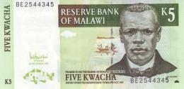 MALAWI 5 KWACHA 2005 P-36c UNC [ MW136c ] - Malawi