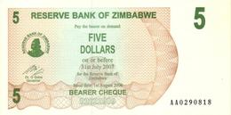 ZIMBABWE 5 DOLLARS 2006 P-38 UNC  [ZW129a] - Simbabwe