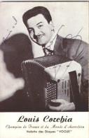 B6 / LOUIS  COREBIA /champion  De France  Et Du Monde  D'accordeon : Dedicassee - Music And Musicians
