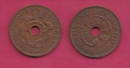 RHODESIA-NYASSALAND, 1957,  1 Penny VF, KM2,  C2867 - Colonies