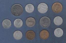 LOT DE 13 PIECES DE MONNAIES DIVERSES DE ITALIE - DE 1910 A 1979 - Italy