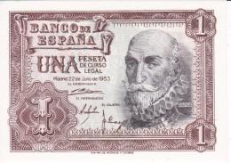 BILLETE DE 1 PTA DEL 22/07/1953 SERIE L SIN CIRCULAR-UNCIRCULATED (BANKNOTE) - [ 3] 1936-1975 : Régence De Franco
