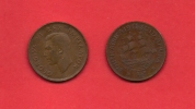 SOUTH AFRICA, 1941,  Circulated Coin, 1/2 Penny, George VI, Km 24, C1396 - South Africa