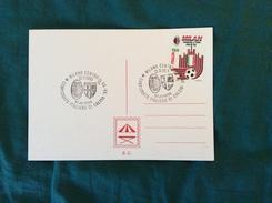 Cartoncino Con Annullo Postale Partita Milan-Parma Campionato Di Calcio 1992-93 - Fútbol