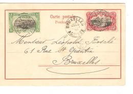 TP 16a-19 Etat Indépendant S/CP Congo Français Village Luémé C.Léopoldville 1/12/1903 V.BXL C.d'arrivée PR3755