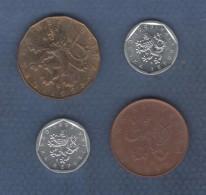 LOT DE 4 PIECES DE MONNAIES DIVERSES DE TCHEQUIE / REPUBLIQUE TCHEQUE - DE 1993 - Tchéquie
