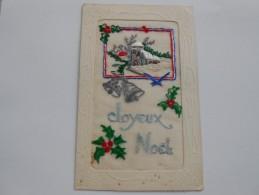 CPA Brodée - Noël - - Brodées