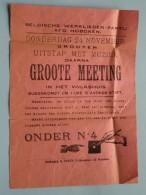 BELGISCHE WERKLIEDEN PARTIJ Afd. HOBOKEN Donderdag 24 November GROOTE MEETING : Anno 19?? ( Zie Foto´s Voor Detail ) ! - Announcements