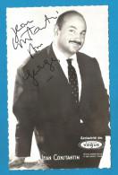 (A297) Signature / Dédicace / Autographe Original De Jean Constantin - Auteur-compositeur-interprète - Autographes