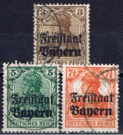 DR+ Bayern 1919 Mi 137-39 Freistaat - Bavaria