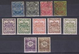 REU 25 - REUNION Petite Lot De Timbres Taxe Neufs* Et Obl. - Réunion (1852-1975)