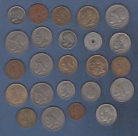 LOT DE 24 PIECES DE MONNAIES DIVERSES DE GRECE - DE 1957 A 1990 - Grecia