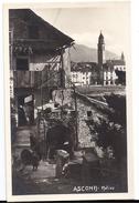 ASCONA: Motivo, Casa Antica Animata ~1930 - TI Tessin