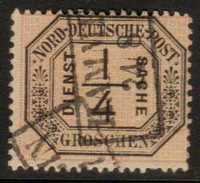 German States North German Confederation  Sc#  O1  Used  1870 - North German Conf.