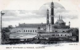 Cpa Sur Simple Carton: Great Emambara Et Mosque, LUCKNOW  (52.95) - Inde