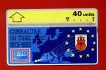 "GIBRALTAR: GIB-32 20 Years Of Gibraltar In The EEC ""Regular Issue"" 40 Unints. Unused"