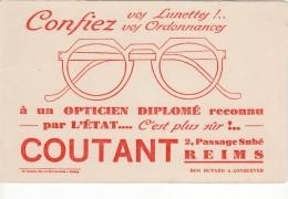 V28 BUVARD Opticien COUTANT 2 Passage Subé REIMS Confiez Vos Lunettes Vos Ordonnances - Blotters