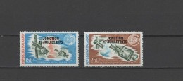 Malagasy - Madagascar 1975 Space Apollo - Soyuz Set Of 2 With Overprint MNH
