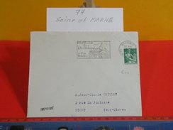 Marcophilie > Lettre > Flamme > 77 Seine Et Marne > Provins - à 1 H De Paris - 1963 - Marcophilie (Lettres)