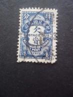 CHINE Taxe N°44 Oblitéré - Portomarken