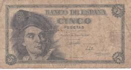 BILLETE DE ESPAÑA DE 5 PTAS DEL 1948 SERIE G CALIDAD RC (BANKNOTE) - [ 3] 1936-1975 : Régimen De Franco