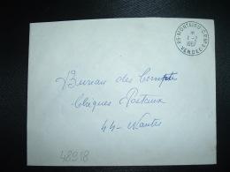LETTRE OBL.1-2-1967 85-MONTAIGU C.P.N°3 VENDEE (85) CORRESPONDANT POSTAL CACHET PLASTIQUE (RARE) - Marcophilie (Lettres)