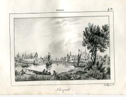 1863´s Italian Engraving  View Of  Velikij Novgorod Near Saint Petersburg Sankt Peterburg Petrograd Leningrad  Russia Ro - Unclassified