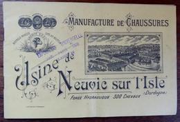 """Livret Publicitaire """"Manufacture Des Chaussures"""" Usine De Neuvic Sur L' Isle - Dordogne -1900 - Textilos & Vestidos"""