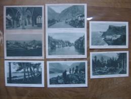 Lot 8 Cartes Postales Postcards De 1924 PLM Dauphine Velay Morvan Savoie Tunisie - Cartes Postales