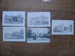 Lot 5 Cartes Postales Postcards Du VIEUX PARIS Hopital Pompe Samaritaine Louvre - Cartoline