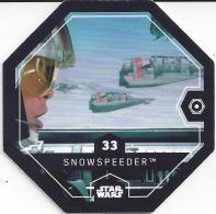 STAR WARS 2016 - Jeton Leclerc Cosmic Shells N° 33 - SNOWSPEEDER - Autres Collections