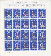Europa Cept 1966 Liechtenstein 1v Sheetlet ** Mnh (V588) Promo - 1966