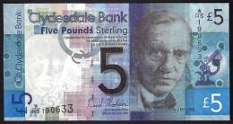 SCOZIA (SCOTLAND) : 5  Pounds - 2009  - CLYDESDALE - UNC - [ 3] Scotland