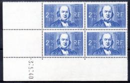 FRANCE - YT N° 464 Bloc De 4 Coin Daté - Neuf ** - MNH - Cote: 67,00 € - 1940-1949