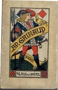REGLES JEUX DE CARTES A JOUER CALENDRIER 1907 GRIMAUD MANILLE PIQUET POCKER FRANCAIS WHIST BRIDGE BACCARA ECARTE - Cartes à Jouer