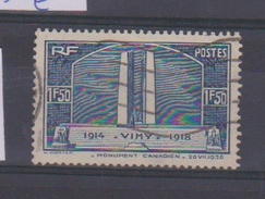 N 317 / 1 Franc 50 Bleu Vimy/  Oblitéré / Côte 10 € - Gebraucht