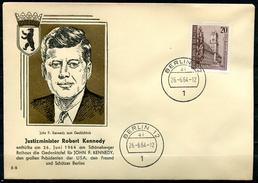 "Germany Berlin 1964 Sonderbeleg John F.Kennedy Mit Mi.Nr.233 U.TST""Berlin-Robert Kennedy Enhüllt Gedenktafel""1 Beleg"