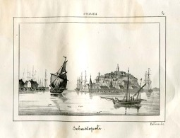 1863´s Italian Engraving  VIEW OF SEBASTOPOLI Sevastopol Aqyar Crimea Krym  Krymskij  Russia Rossiya - Unclassified