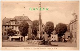 68 ALTKIRCH - Fonatine Place De L'hotel De Ville - Altkirch