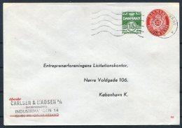Denmak Private Stationery Cover Entreprenorforeningens Licitationskonter. Gravestrand - Interi Postali
