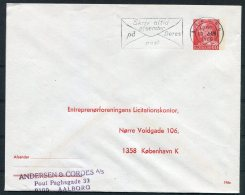 Denmak Private Stationery Cover Entreprenorforeningens Licitationskonter. - Interi Postali