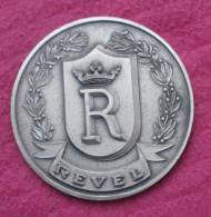 Medaille En Bronze Argenté FIA Ed - Ville De REVEL En Haute Garonne 73 Mm - France