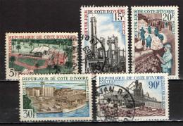 COSTA D'AVORIO - 1968 - PRODUZIONE DI BURRO DI CACAO - INDUSTRIA DEL LEGNO - RAFFINERIA DI ABIDJAN - COTONE - USATI - Ivory Coast (1960-...)