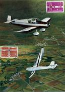 FRANCE AVIONS 1962  2 Cartes Maximum Avion Aereo Airplane Jodel Wassmer D 120 Et Planeur - Vliegtuigen