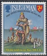 Isle Of Man 1973 Postal Independence. Viking Landing On Man. Mi 28 MNH - Man (Eiland)