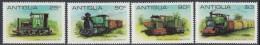 Antigua 1981 Locomotives Of Sugar Cane Railway. Mi 607-610 MNH - Antigua & Barbuda (...-1981)