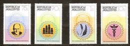 Maldives Malediven 1980 Yvertn° 804-807 *** MNH Cote 55 FF Rotary International - Maldives (1965-...)