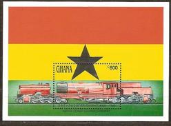 Ghana 1992 Yvertn° Bloc 192 *** MNH Cote 45 FF Chemin De Fer Treinen Trains - Ghana (1957-...)